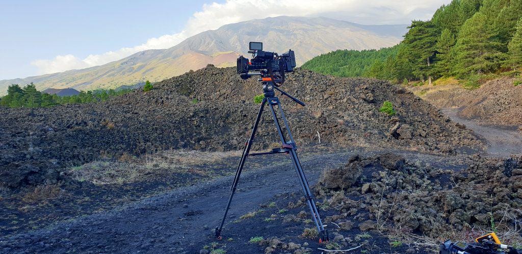 camera tv sull etna vulcano