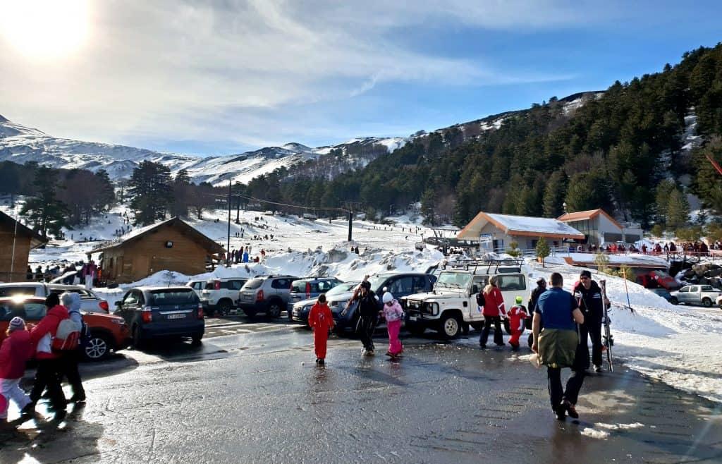 Neve piano Provenzana parcheggio
