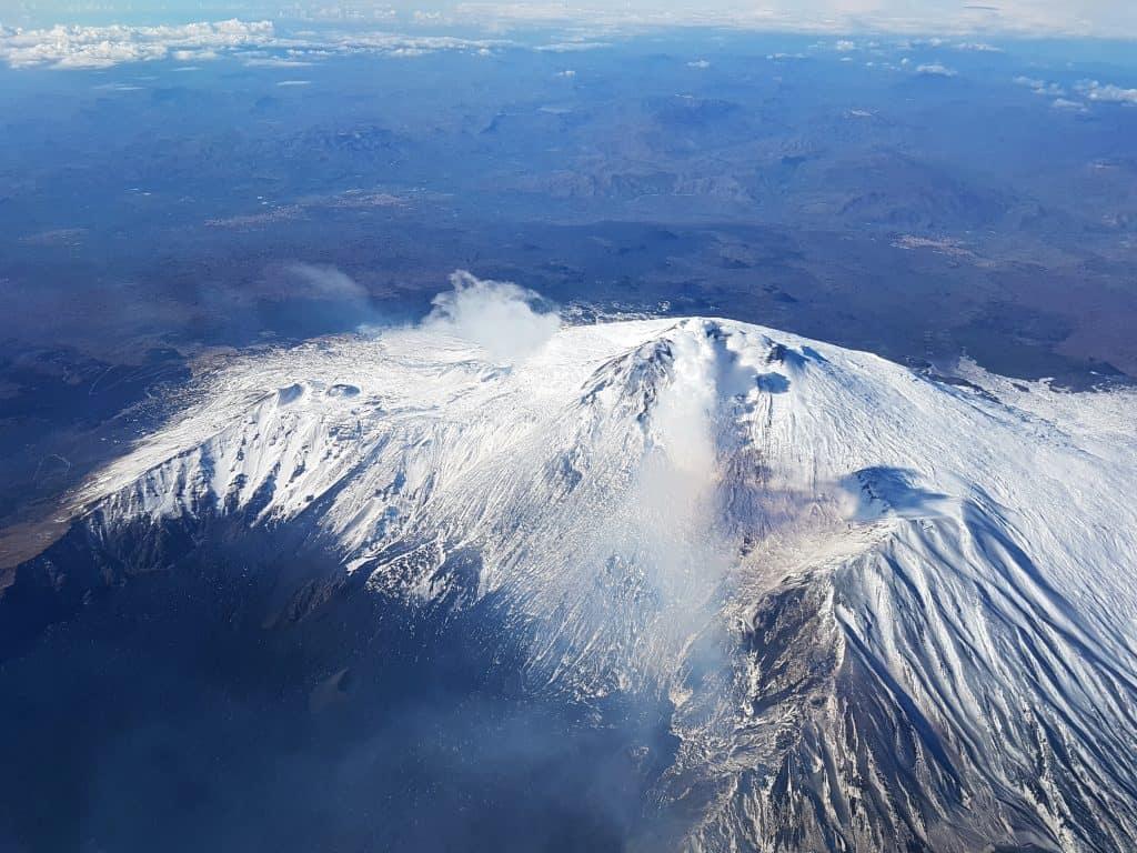 vulcano etna dall alto