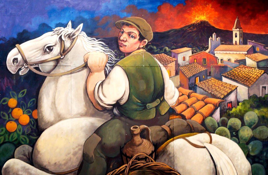 murales linguaglossa cavallo