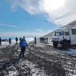 Arrivo 2900 metri Etna Sud
