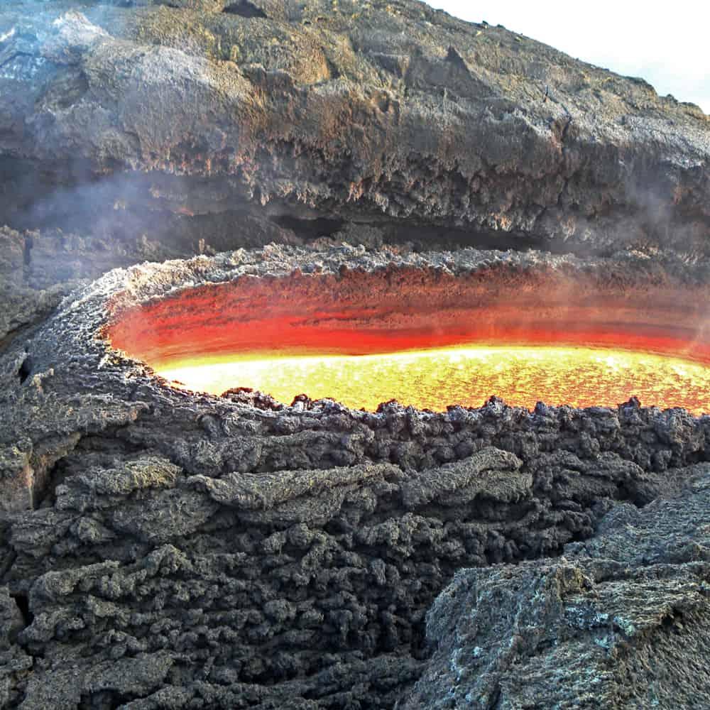 Bocca effusiva Lava Etna