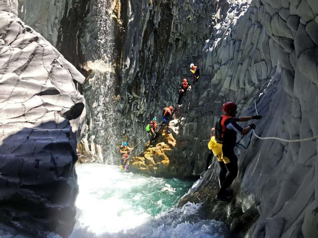 canyoning alcantara fiume