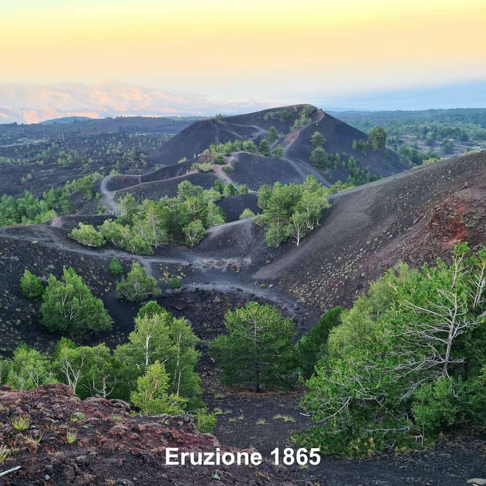 eruzione 1865 etna