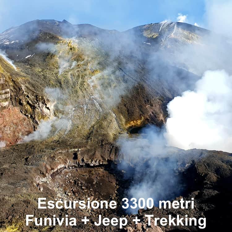 escursione top cratere etna