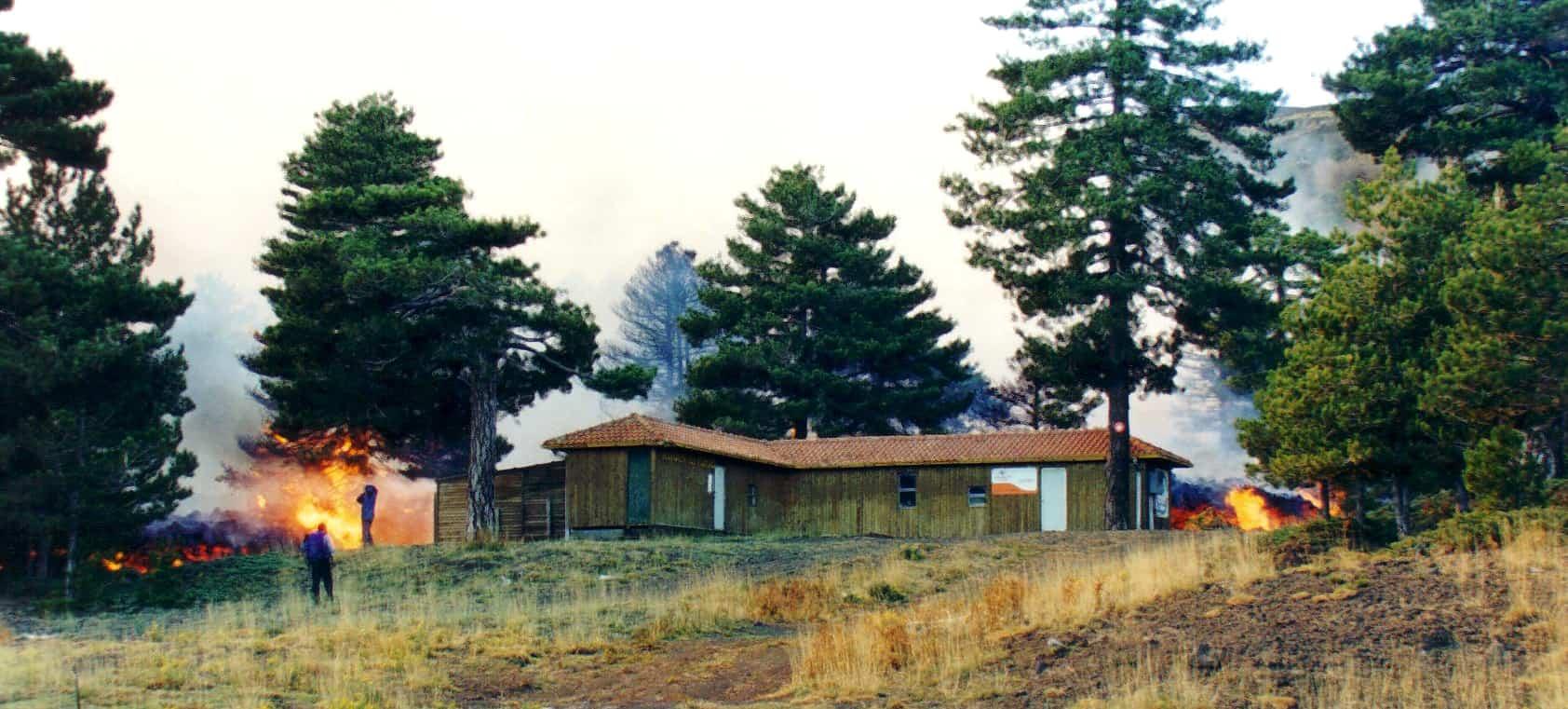 fuoco eruzione 2002 etna