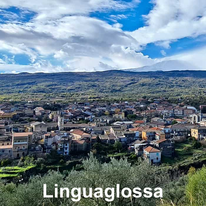 linguaglossa con vista etna