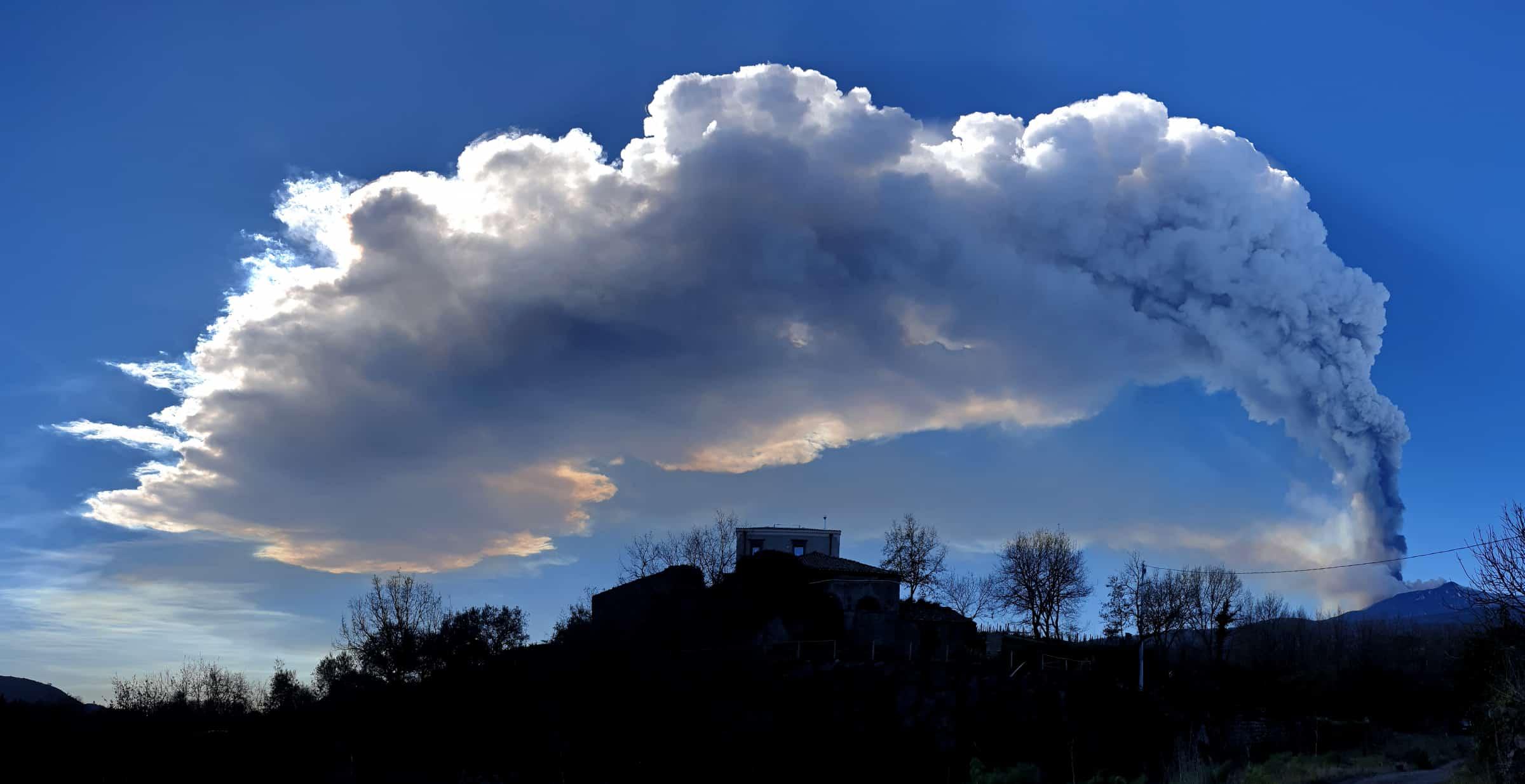 eruzione etna 12 03 2021