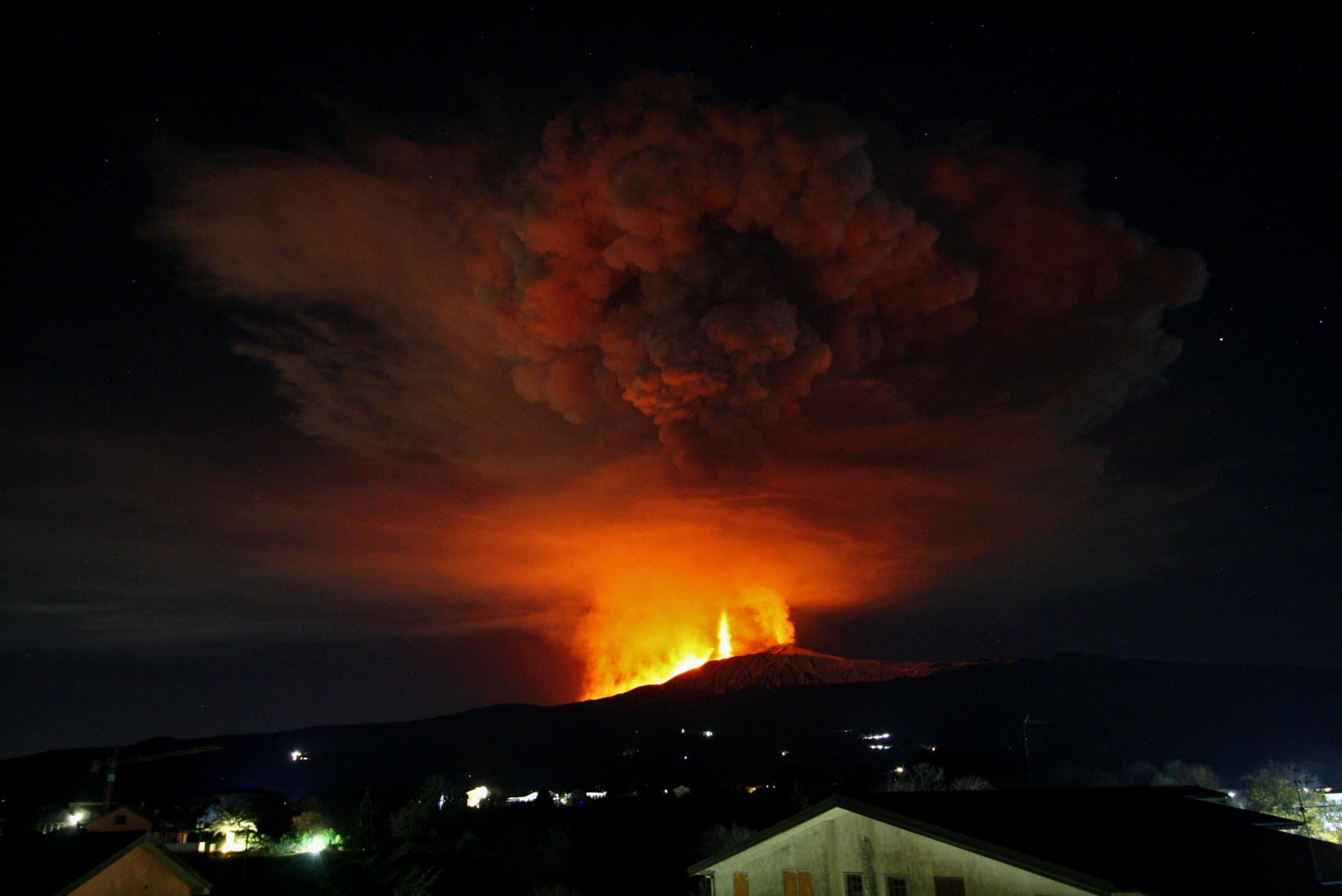 eruzione etna 21 02 2021